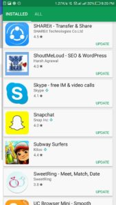 How to update Snapchat app