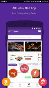 Tapzo all-in-one-app for Food, Cabs & Recharge