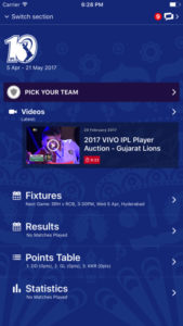 Official IPL app
