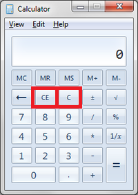 What is the difference between C and CE button in Calculators