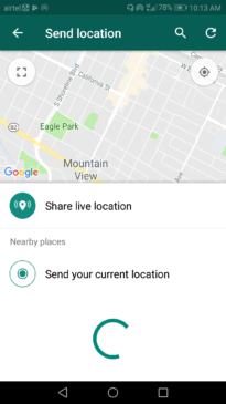 How to share your location with friends on Whatsapp