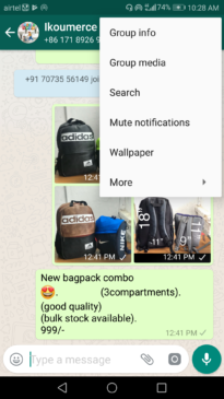 How to mute Whatsapp group notifications